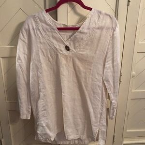 Tops - Cream tunic. Very cozy and casual